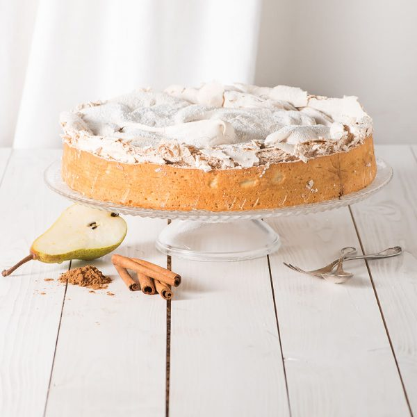 Marusin Birnenkuchen mit Zimt-Baiser