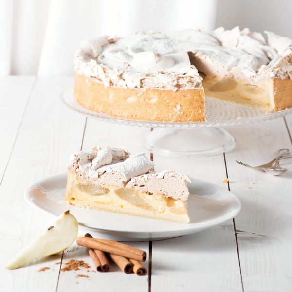 Marusin Birnenkuchen mit Zimt-Baiser Stueck