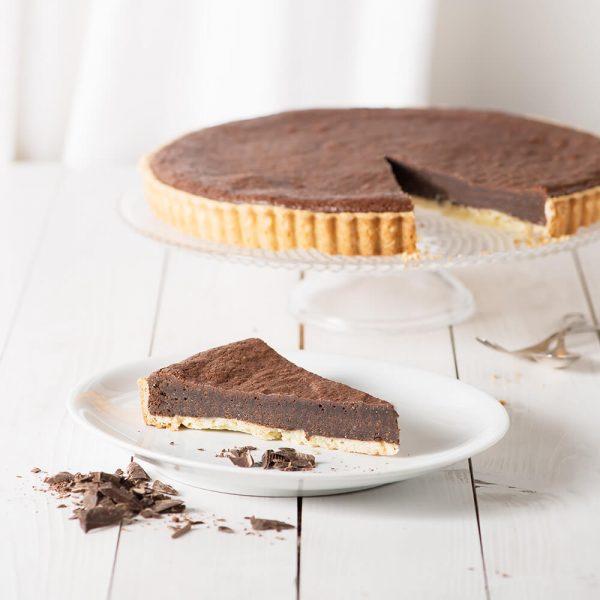 Marusin Mandeltarte mit Zartbitter-Schokolade Stueck