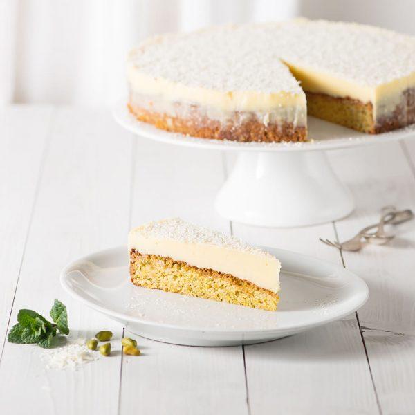 Marusin Oma Bocks weisser Schokoladenkuchen Stueck