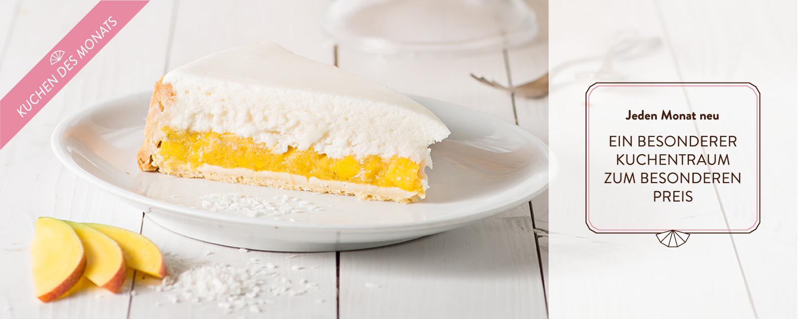 Marusin Mangokuchen mit Kokosschaum Kuchen des Monats Slider