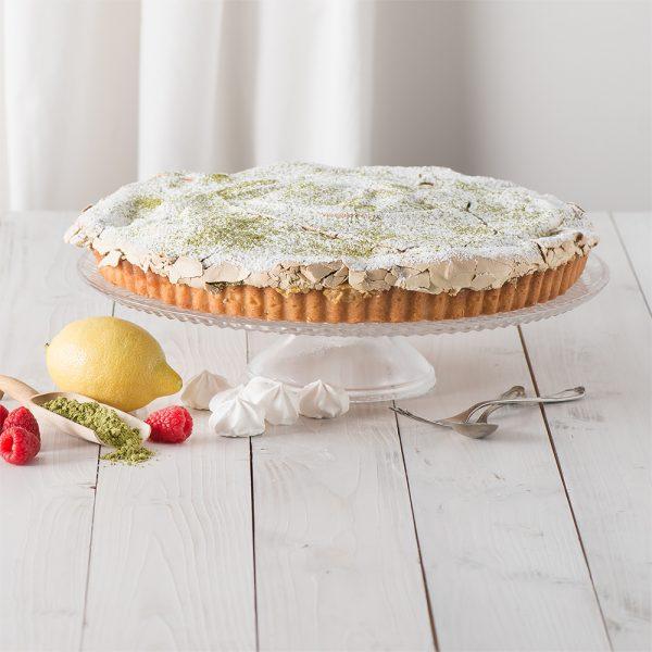 Marusin Zitronen-Himbeer-Tarte mit Bio-Matcha-Baiser