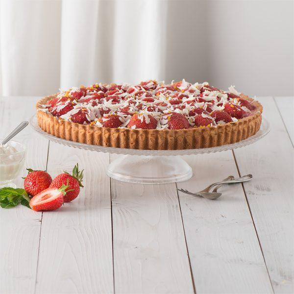 Marusin Erdbeer-Ricotta-Tarte mit Minze und Zitrone