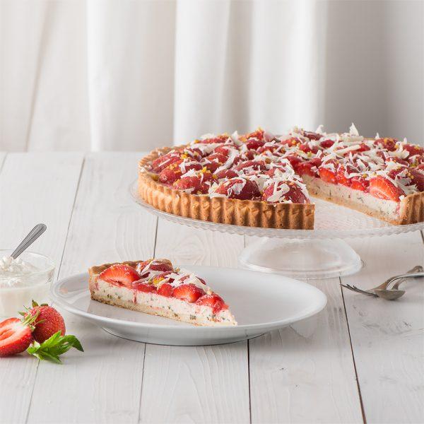 Marusin Erdbeer-Ricotta-Tarte mit Minze und Zitrone Stueck